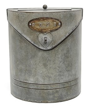 ZiaBella | 7.75'' Weathered Steel Postal Box