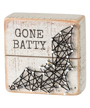 Primitives by Kathy | 'Gone Batty' String Box Sign