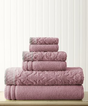 Affinity Home | Denim Spa Four-Piece Cotton Bath Towel Set