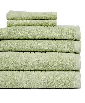 Revere Mills | Powder Blue Stripe Soho Six-Piece Towel Set