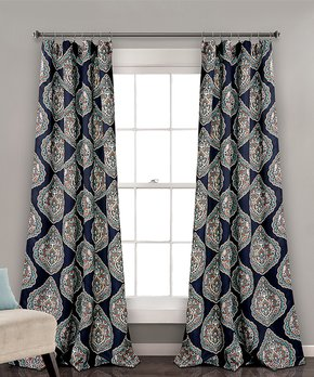 Duck River Textile | Gray Brylee Blackout Curtain Panel - Set of Two