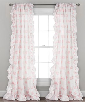 Lush Décor | Tangerine Percy Bloom Room-Darkening Curtain Panel - Set of Two