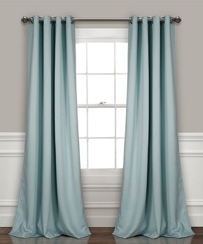 Lush Décor | Blue Insulated Blackout Curtain Panel - Set of Two
