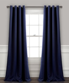 Lush Décor | Navy Insulated Blackout Curtain Panel - Set of Two