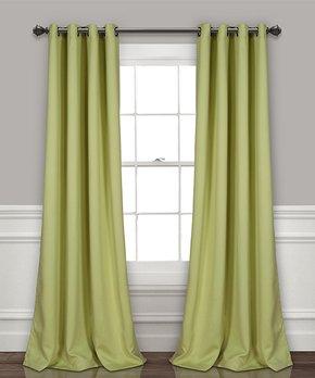 Lush Décor | Purple Ruffle Fox Curtain Panel - Set of Two