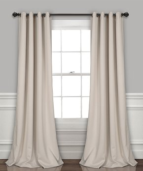 Lush Décor | Wheat Insulated Blackout Curtain Panel - Set of Two