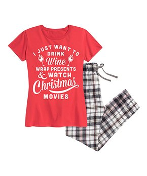 His-&-Hers Christmas Loungewear | Zulily