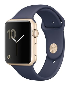 Apple | Refurbished Gold Aluminum Case & Midnight Blue Band 42-MM Series 2 Watch