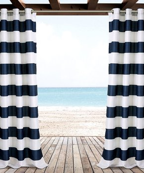 Lush Décor | Gray Julia Stripe Blackout Curtain Panel - Set of Two