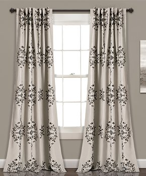 Duck River Textile | Chocolate Kingsville Three-Piece Curtain Panel Set