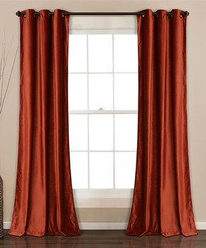 Lush Décor | Taupe Bret Room-Darkening Curtain Panel - Set of Two
