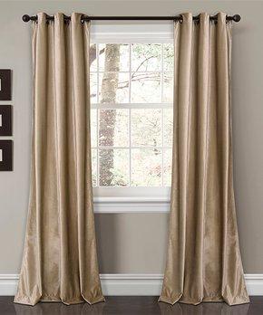 Lush Décor | Navy Bellagio Room Darkening Curtain Panel Set
