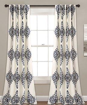 Lush Décor | Cream Keya Room-Darkening Curtain Panel - Set of Two