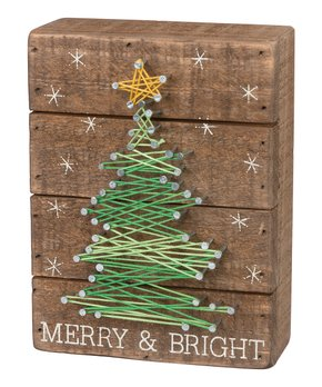 Primitives by Kathy | 'Merry & Bright' String Art Wall Décor