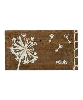 Primitives by Kathy | 'Wish' String Wood Box Sign