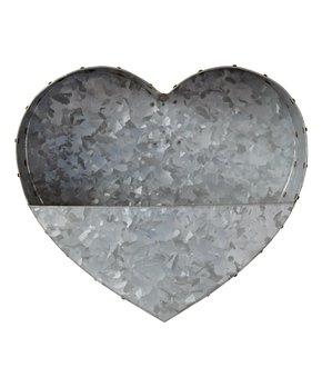 Galvanized Metal Heart Planter