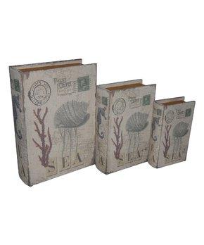 Gray & Mint Wood Storage Box Set