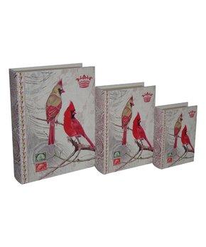 Cheung's Rattan Imports | Linen & Wood 3-Piece Trunk Set