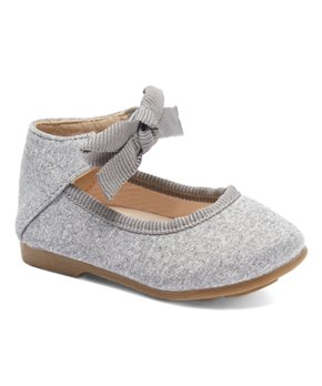 Rugged Bear | Silver Embellished Strap-Accent Flat - Girls