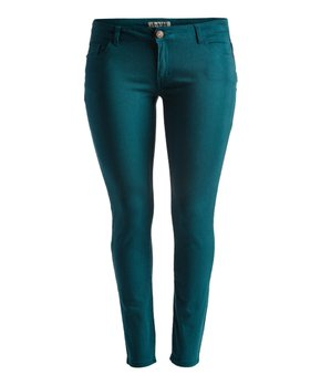 Emperial Premium | Teal Five-Pocket Skinny Pants - Women & Plus
