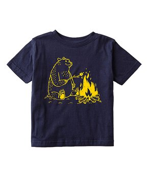 Instant Message   Navy Bear S'mores Tee – Toddler & Kids