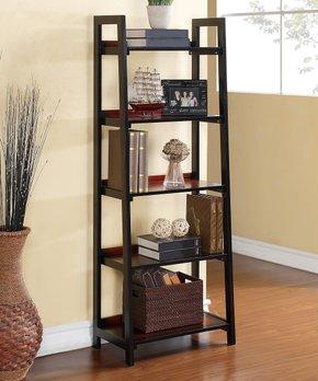 Linon Home | Camden Five-Shelf Leaning Bookcase