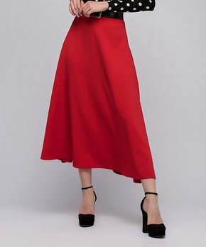f0590304c all gone. Cotton Mood | Red Midi Skirt ...