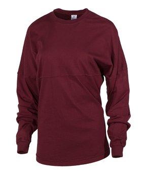 830b6ced6 Venley | Aggie Maroon Oversize Long-Sleeve Football Tee - Women