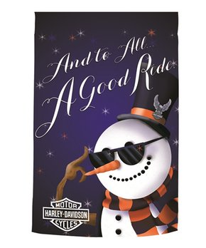 Evergreen | Harley-Davidson Holiday Snowman Outdoor Flag