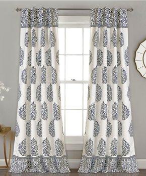 Duck River Textile | Indigo Rhys Blackout Curtain Panel - Set of Two