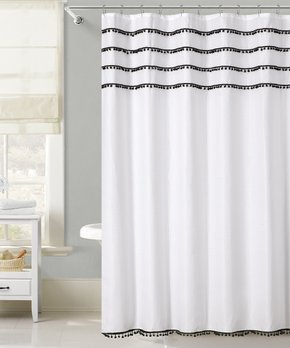 VCNY Home | Blue Kissing-Pleat Palma Shower Curtain
