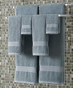 VCNY Home | Slate Blue Classic Dobby Six-Piece Towel Set