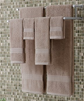 Affinity Home   Gray Geometric Cotton Bath Rug - Set of Two