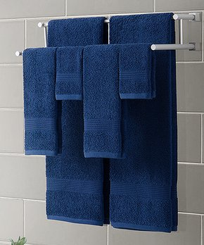 VCNY Home | Indigo Blue Ribbed Luxury Six-Piece Towel Set