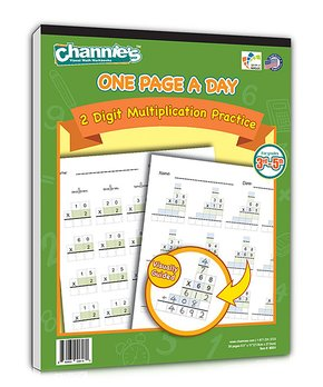 Channie's | Grades 3 to 5 One Page A Day Two-Digit Multiplication Workbook