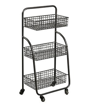 Cheung's Rattan Imports | Three-Tier Metal Cart