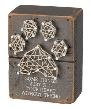 Primitives by Kathy | 'Some Things Just Fill Your Heart Without Trying' String Art Box Sign