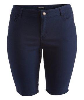 Emperial Premium | Navy Emperial Bermuda Shorts - Plus