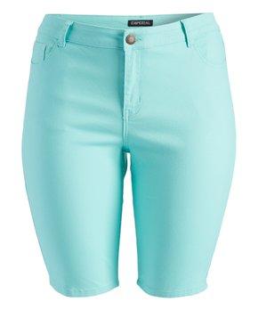 Emperial Premium | Mint Emperial Bermuda Shorts - Plus