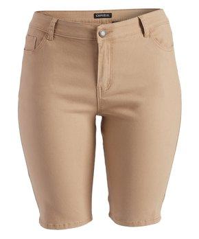 Emperial Premium | Khaki Emperial Bermuda Shorts - Plus