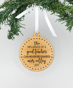 Stamp Out Online | 'Influence of a Good Teacher' Personalized Wood Ornament