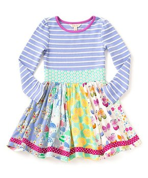 Blue & Pink Whatever the Weather Dress - Toddler & Girls