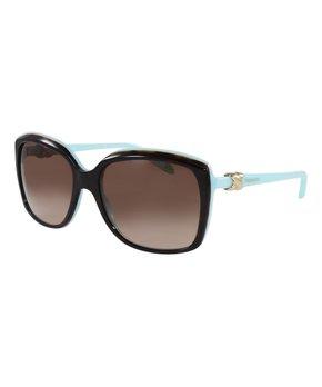 730e44e2fa39 Blue   Brown Gradient Havana Oversize Sunglasses