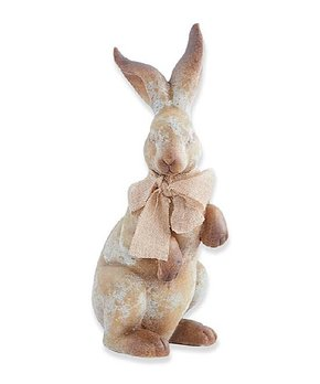 K&K Interiors | Tan 18'' Raised-Head Standing Rabbit Décor