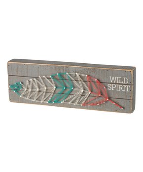 Primitives by Kathy | 'Wild Spirit' String Block Sign