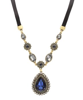 Olivia Welles Jewelry | Blue Crystal & Burnished G...