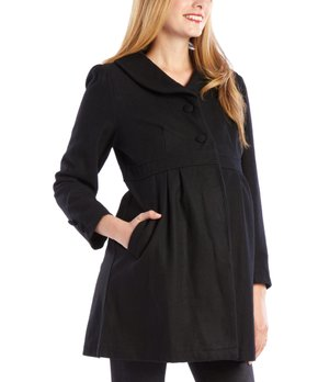 f06103f0f1c66 all gone. Dynabelly | Black Long Wool-Blend Maternity Coat