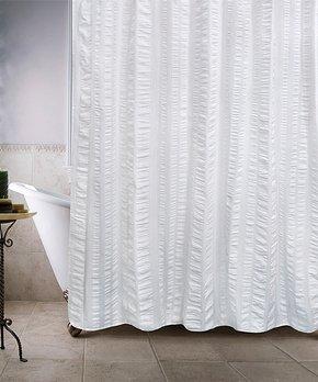 Park B. Smith | White Seersucker Shower Curtain