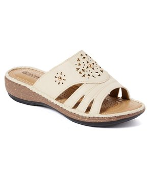 Golden Road | Beige Cutout-Strap Sandal – Women