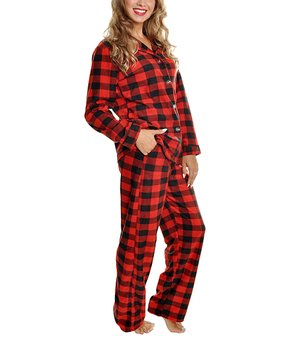 6e830b1af879 ... Red Candy Cane Fleece Pajama Set - Women. all gone
